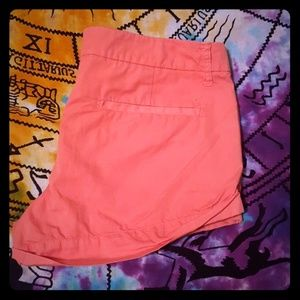 AMERICAN EAGLE PEACH COTTON SHORTS SIZE 6